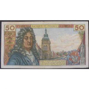 50 Francs Racine 6.3.1975, V.264, TB+/TTB