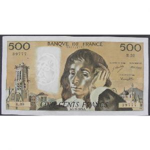 500 Francs Pascal 4.10.1973, R.30, TTB