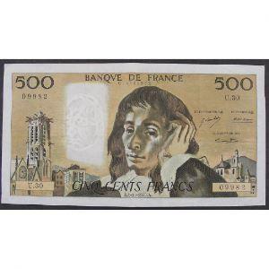 500 Francs Pascal 4.10.1973, U.30, TTB