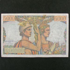 5000 Francs Terre et Mer 2.5.1957, TTB