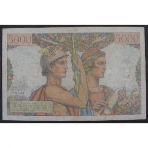 5000 Francs Terre et Mer 3.11.1949, S.37, TB/TB+