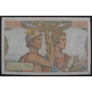 5000 Francs Terre et Mer 5.4.1951, L.54, TB/TB+