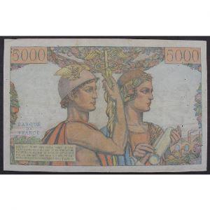 5000 Francs Terre et Mer 5.4.1951, S.63, TB/TB+