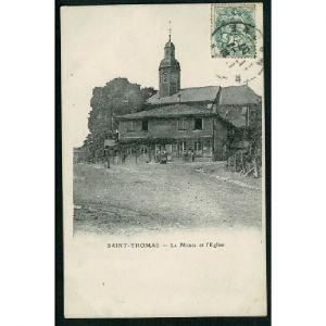 51 - SAINT THOMAS (Marne) - La Mairie et l'Eglise