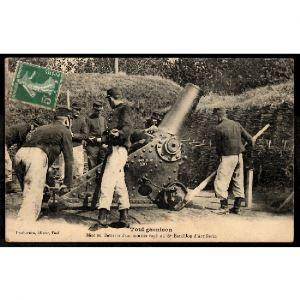54 - TOUL GARNISON (Meurthe et Moselle) -  Mise en Batterie d'un Mortier Rayé au 6e Bataillon d'Artillerie