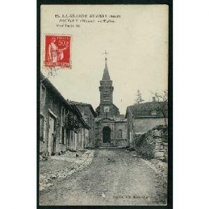 55 - SOUILLY (Meuse) - L'Eglise - La Grande Guerre 1914-16