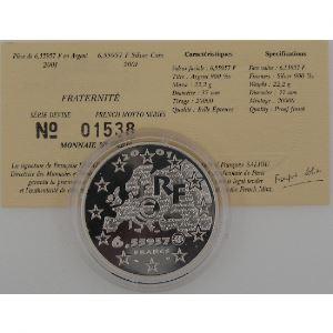 6.55957 Francs 2001 BE, Fraternité, KM#1276