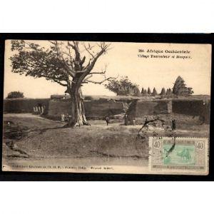 AFRIQUE OCCIDENTALE - Village TOUCOULEUR et Mosquée