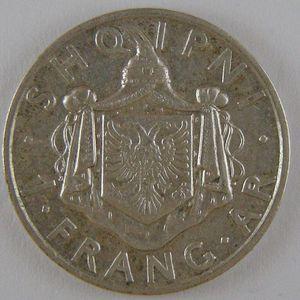 Albania , 1 Frang 1935, TTB+/SUP, KM 16