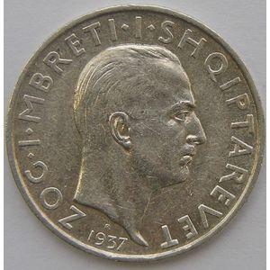 Albania, 1 Frang 1937, TTB+/ SUP, KM 16