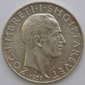 Albania, 2 Franga 1937, TTB/ TTB+, KM 19