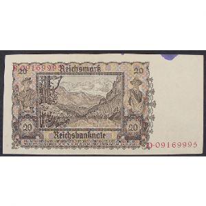 Allemagne, 20 Reichsmark 16.6.1939, VF