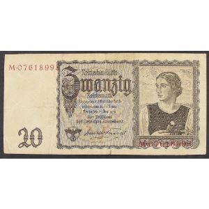 Allemagne, 20 Reichsmark 16.6.1939, VG