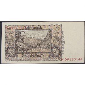 Allemagne, 20 Reichsmark 16.6.1939 , XF