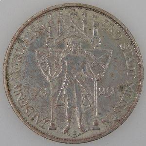 Allemagne, République de Weimar, 3 Reichsmark 1929 E, TTB+, KM#65