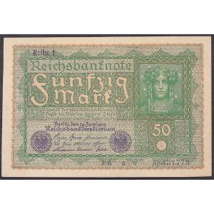 Allemagne , 50 Mark 24.6.1919, XF