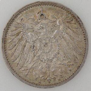 Allemagne , Empire Allemand, 1 Mark 1906 A, TTB+/SUP, KM#14.