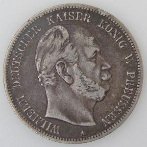 Allemagne , Preussen, 5 Mark 1874 A, TB+, KM#503