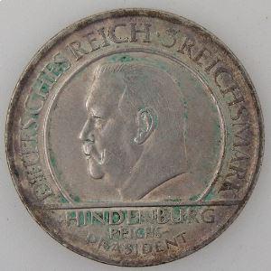 Allemagne , République de Weimar, 3 Reichsmark 1929 A, TTB+/SUP, KM#63