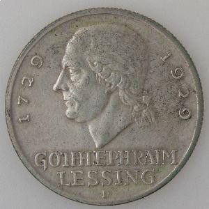 Allemagne , République de Weimar, 3 Reichsmark 1929 D, TTB+, KM#60