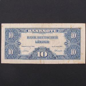 Allemagne,  10 Mark 1949, VF