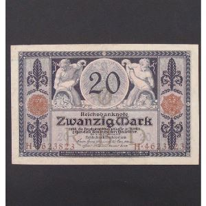 Allemagne, 20 Mark 4.11.1915, VF