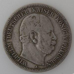 Allemagne, Preussen , 2 Mark 1876 A, TB/TB+, KM#506.