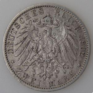 Allemagne, Preussen, 2 Mark 1902 A, TB+, KM#522