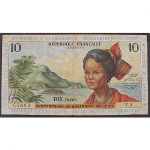 Antilles Françaises, 10 Francs ND 1964, VF