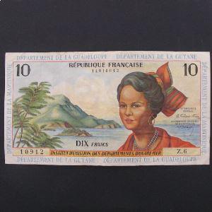 Antilles Françaises, 10 Francs ND 1964, VF+