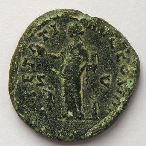 Antonin le Pieux, Antoninus Pius, Dupondius, R/ PIETATI AVG COS IIII SC, TB/TB+