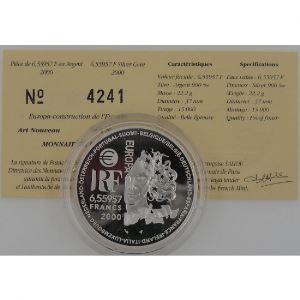 Art Nouveau, 6.55957 Francs 2000, BE, KM# 1227