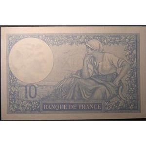 Billets français, Banque de France, 10 Francs Minerve 27-2-1928