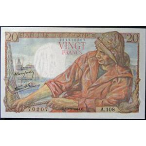 Billets français, Banque de France, 20 Francs Pêcheur 10-2-1944