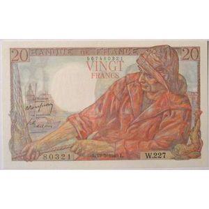 Billets français, Banque de France, 20 Francs Pêcheur 19-5-1949