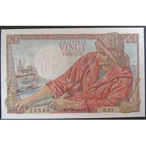 Billets français, Banque de France, 20 Francs Pêcheur 5-11-1942