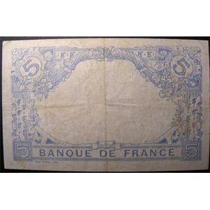 Billets français, Banque de France, 5 Francs Bleu 18-3-1915