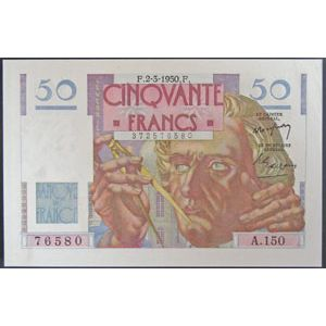Billets français, Banque de France, 50 Francs Le Verrier 2-3-1950