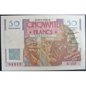 Billets français, Banque de France, 50 Francs Le Verrier 29-6-1950