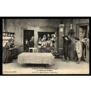 BUSSANG (Vosges) - Le Château de Hans - Acte II - Les Jeunes Gens et Tante Kiby - Théâtre du Peuple