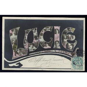 Carte Prénom LUCIE
