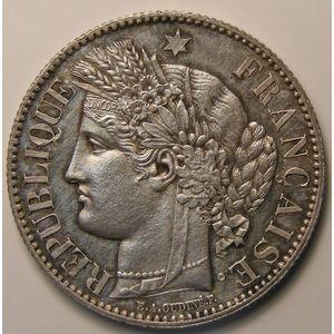 Cérès, 2 Francs 1871 A, SUP+/SPL, KM# 717.1