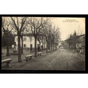 CHAPONNAY - Place et Ecole de Filles