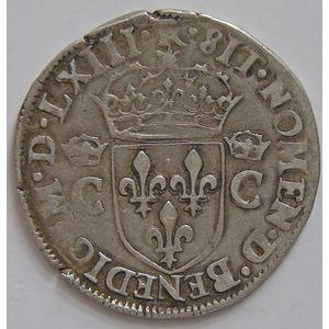 Charles IX, demi-teston 1563 M, Duplessy 1064, TTB