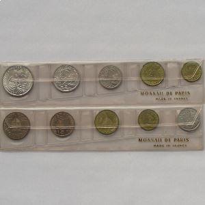 Comoros & Reunion, coffret Fleurs de Coins 1964