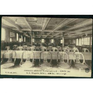 Compagnie Générale Transatlantique - French Line - S.S. Niagara (16700 T. - 8250 Chx.) - Salle à Manger