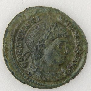 CONSTANTIN I, CONSTANTINUS I, Nummus, GLORIA EXERCITVS, SUP