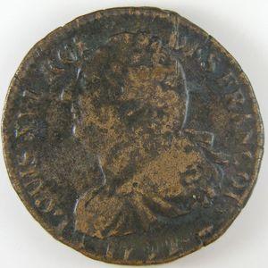 Constitution, 2 Sols 1792 Pau, TB+/TTB, Gadoury: 25