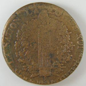 Constitution, 2 Sols 1793 AA, TB+/TTB, Gadoury: 25