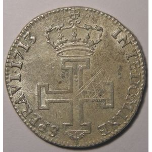 Duché de Lorraine, Léopold I (1690-1729), Teston 1713, Flon P 893 N° 84-85, 8.35 grs, TTB/TTB+